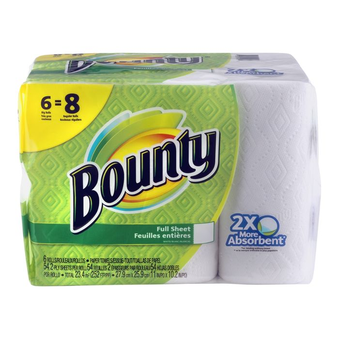 Bounty Full Sheet Paper Towels Giant Rolls: Buy Bounty Paper Towels, Full Sheet, Big Roll... Online