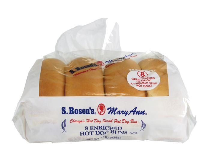 buy s rosens mary ann hot dog buns enriched online mercato. Black Bedroom Furniture Sets. Home Design Ideas