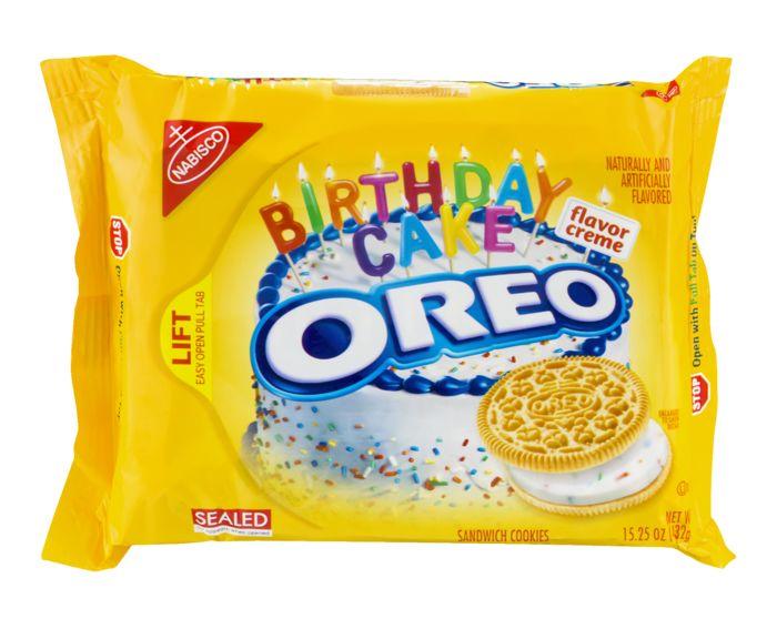 OREO Cookies Sandwich Birthday Cake Flavor Creme at World Fresh