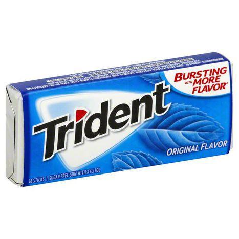 Buy Trident Gum Original Flavor Sugar Free Wrapper Online Mercato