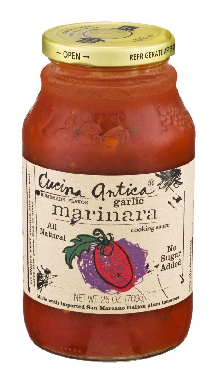 Cucina Antica Cooking Sauce Marinara Garlic Jar At D Angelo